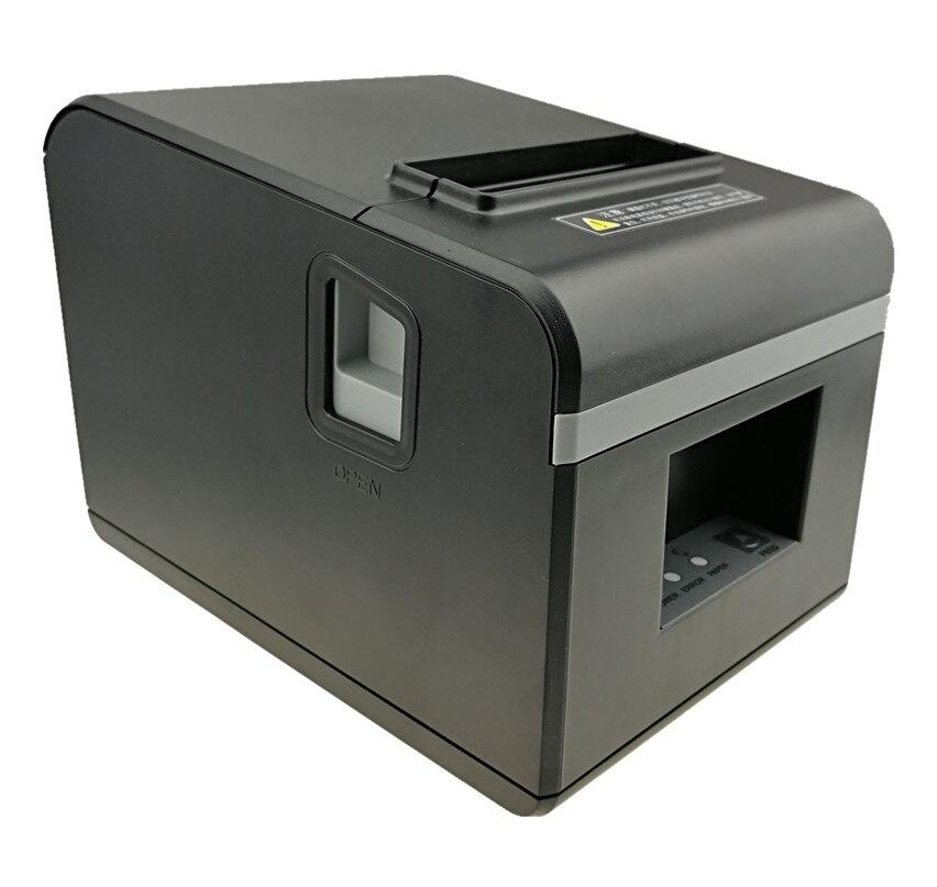 Оптовая продажа абсолютно новый 80 мм чековый принтер высокого качества Маленький билет POS принтер автоматическая резка скорость печати быс...
