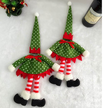 Christmas Polka Dot Wine Bottle Cover Bags For Christmas Decoration New Year's products wine bottle home decoration accessories