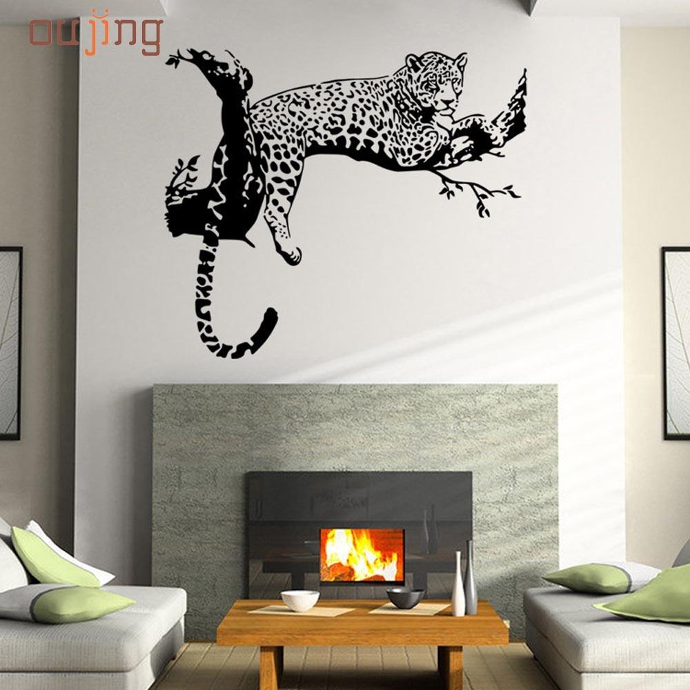 prevalentes lindo nueva leopardo pegatinas de pared dormitorio sala de estar decoracin extrable cartel pintado