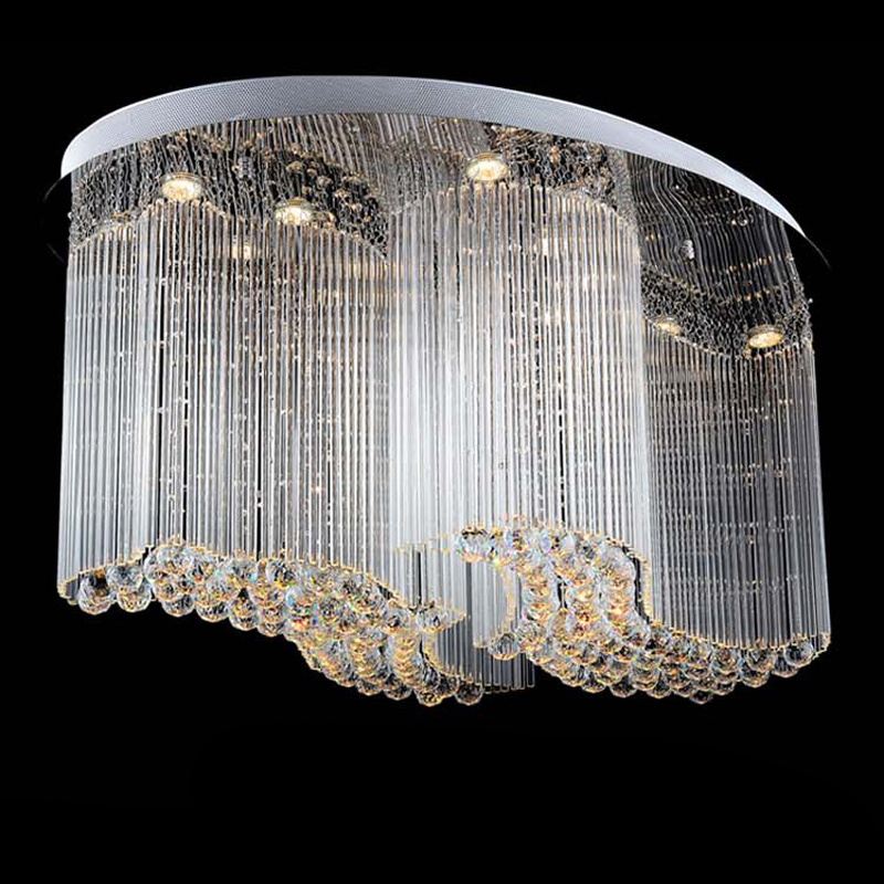 Whole Flush Mount Oval Modern Chandelier Lighting Crystal Lamp Re Led Light In Chandeliers From Lights On Aliexpress