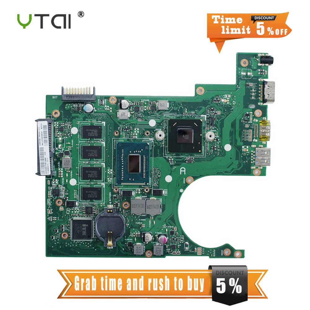 YTAI 1007U processor for ASUS X200CA laptop motherboard HM70 USB3.0 REV:2.1 with 1007U 4G RAM mainboard fully tested brand new for asus k53sd rev 6 0 motherboard rev 6 0 with i3 processor mainboard