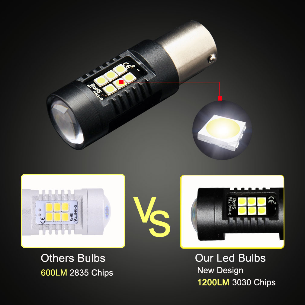 Led lampen kfz image collections mbel furniture ideen 2 stcke p21w led 1156 ba15s led lampen auto lichter 1200lm drehen 1x geschenk paket parisarafo parisarafo Choice Image