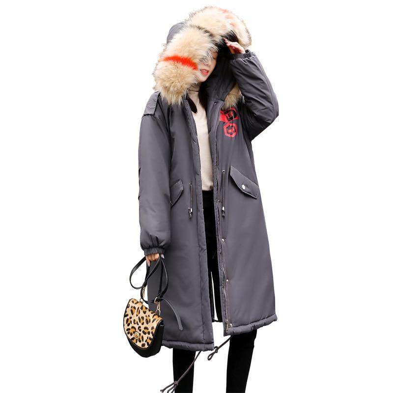 Casual Genou Longue Gris Lâche 200 De Femmes Du Plus 18 Manteau Graisse Kg Section D'hiver Mm Coton Nouvelle Xl Vêtements D'engrais Veste wqYSw4Za