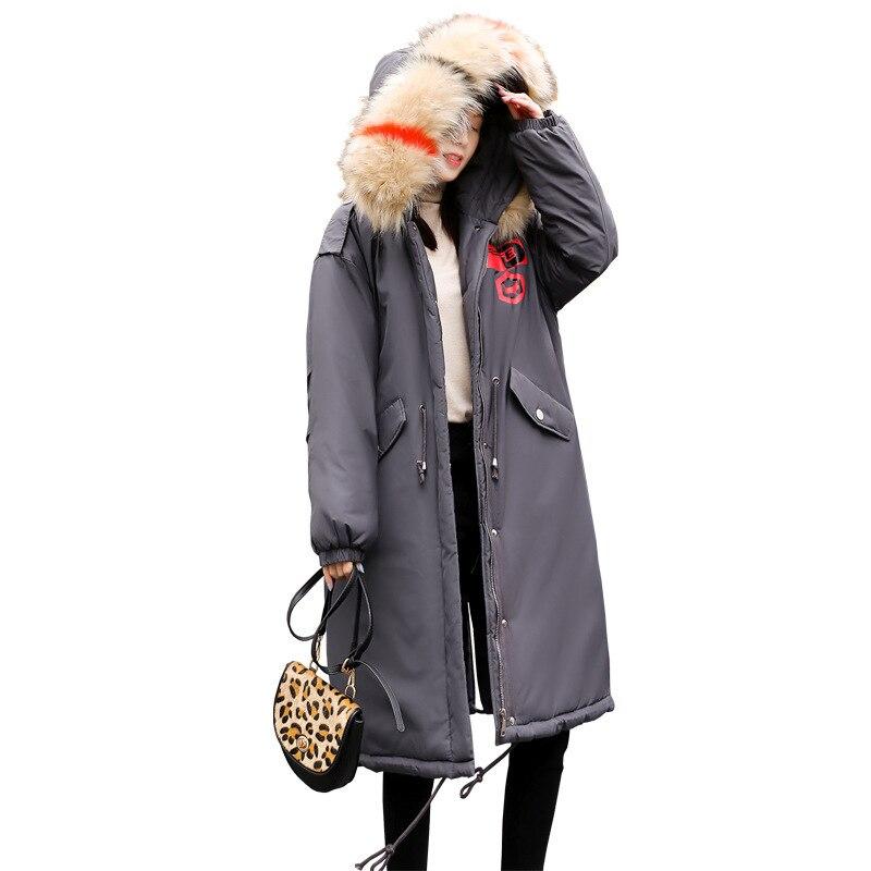 Femmes Vêtements Manteau De Gris Coton Décontracté Xl D'hiver Nouvelle 18 Veste Graisse Longue Genou D'engrais Plus Lâche 200kg Mm Section En tIwOwEq