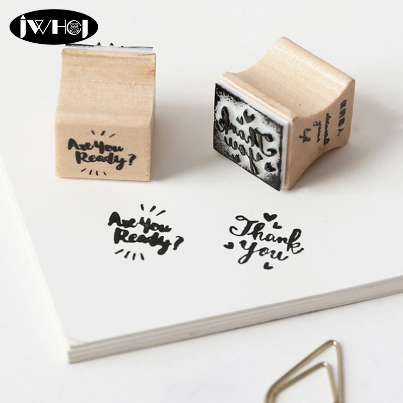 Packaging Series Wood Stamp Labeling Tags Wooden Rubber Stamps For Scrapbooking Handmade Card Diy Photo Album Craft Gifts In From Home Garden