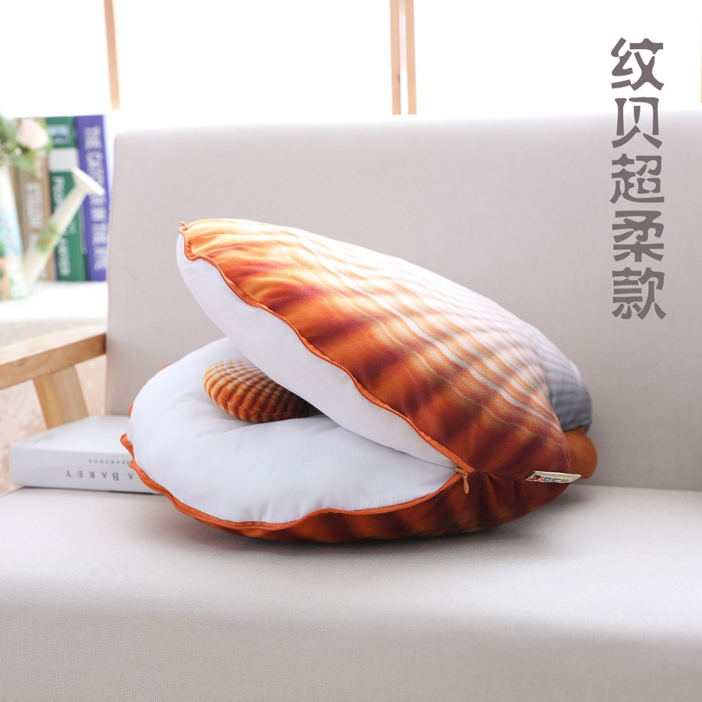2018 colorido shell pillow plush & Stuffed