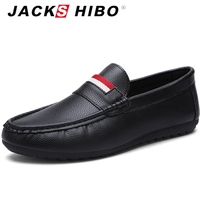 JACKSHIBO 2016 New Spring Summer Casual Man Shoes Striped Light Loafers Breathable Slip On Man Shoes