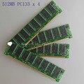 НОВЫЙ 2 ГБ 4x512 МБ PC133 Sdram 168pin DIMM Рабочего Памяти Non-ECC Низкой Плотности 64X8 CL3.0RAM памяти