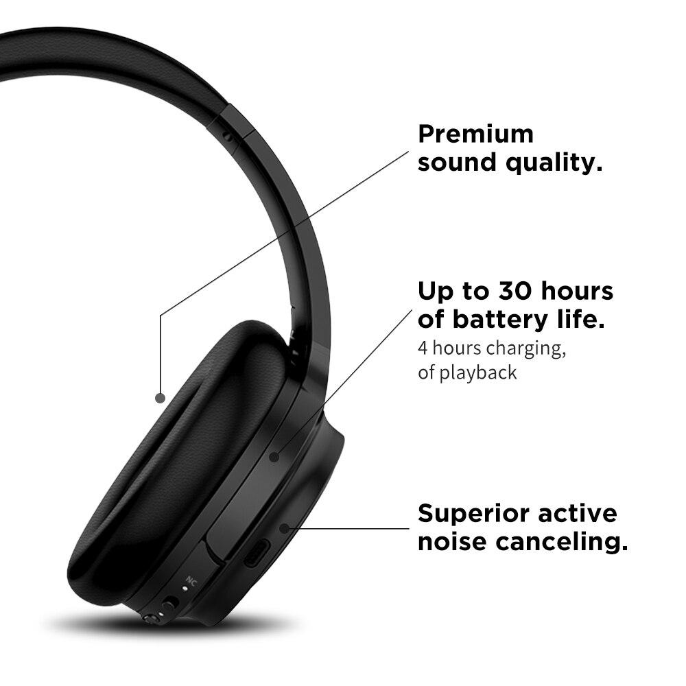 共同受賞 SE7MAX アクティブノイズキャンセリングヘッドホン Bluetooth ワイヤレスヘッドフォン aptx 重低音ヘッドセット 30H 再生とゲーム時間  グループ上の 家電製品 からの Bluetooth イヤホン & ヘッドホン の中 3