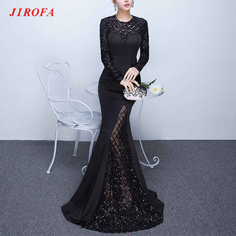 ... Elegant Robe Hiver Evening Mermaid Gown. RELATED PRODUCTS. 2019 Women  Vestidos Verano Sexy Mesh Winter Dress O-Neck Long Sleeve Formal Evening  Gowns fe832d105d47