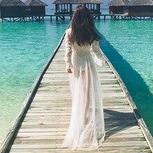 Ensotek Lace Long Sleeves Hippie Style Wedding Dresses 2019 Chiffon  Boho Chic Rustic Bridal Gowns Flare Sleeves Wedding Dresses