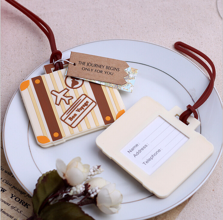 DHL free shipping 100PCS/LOT Bon Voyage airplane Luggage Tag wedding baby shower party Favor guest gifts