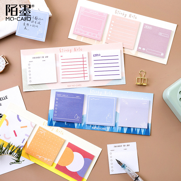 60 Sheets/pad Art Museum Sticky Notes School Stationery Memo Pad Lovely Diary Sticker Planner Office Supplies(China)