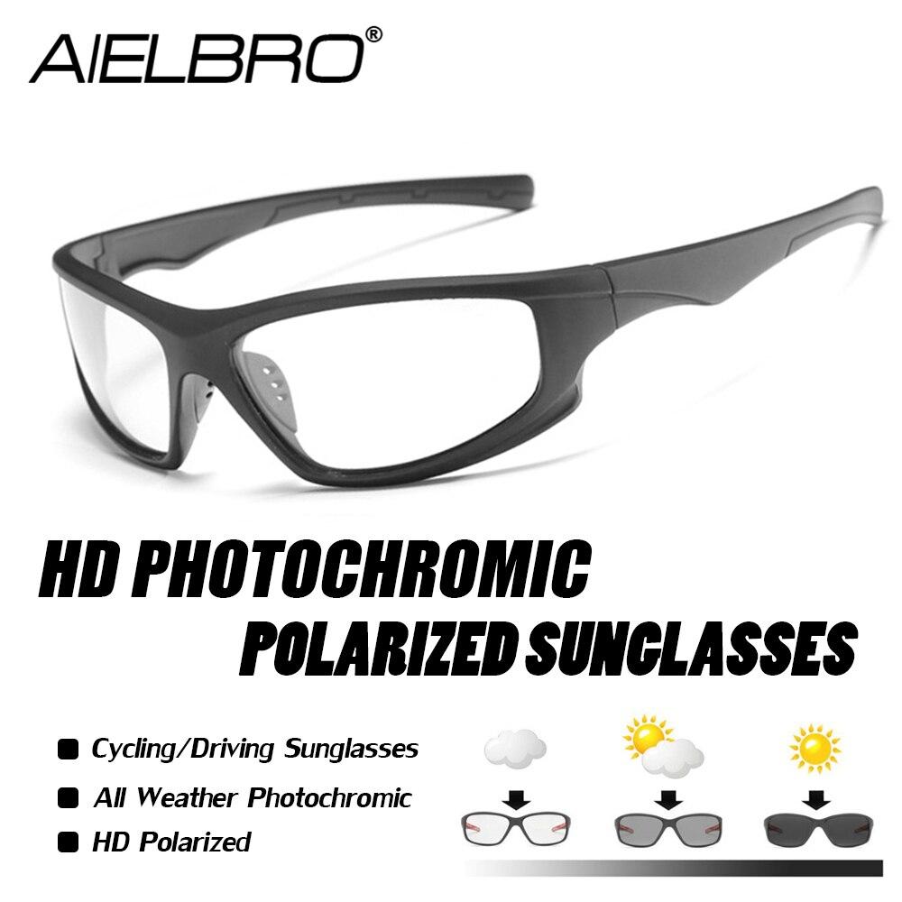 Photochromic Polarized Cycling Bicycle Bike Glasses Outdoor Sports MTB Sunglasses Goggles Eyewear