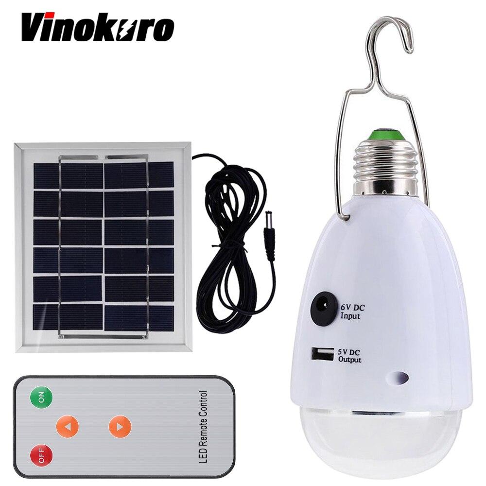 Vinokuro открытый шатер светодиодный солнечный светильник 12 Светодиодный E27 затемнения оптического дистанционного Управление AC90 ~ 260 В/DC6V Перез...
