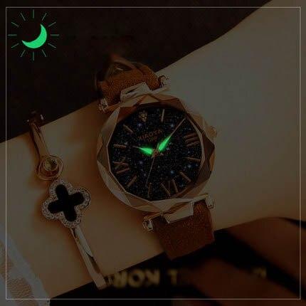 Starry Sky Watch Luxury Watch Women Leather Ladies Quartz Wrist Watch Fashion Casual Clock Female Waterproof Relogio Feminino 2