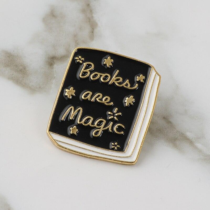 Witch Black Magic Book Hard Enamel Cartoon Brooches Lapel Pin