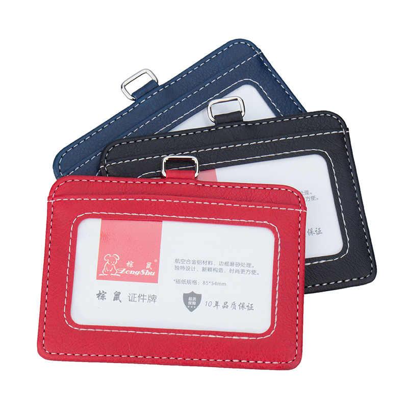 Новые прозрачные держатели для удостоверений личности и сертификаты чехол для допуска качественный ПВХ держатель для карт рабочий чехол для удостоверения личности без шнурка