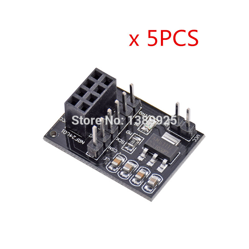 5PCS Wireless Module Adapter Board 3.3V Supporting For Smart Car 24L01 Module