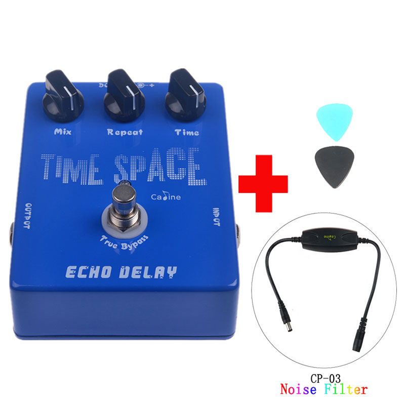 Caline CP-17 Echo Delay Guitar Effect Pedal Digital Delay Pedal True Bypass and Caline CP-03 Noise Filter new arrival aroma ape 3 pure echo digital delay electric guitar effect pedal mini single effect true bypass pedal