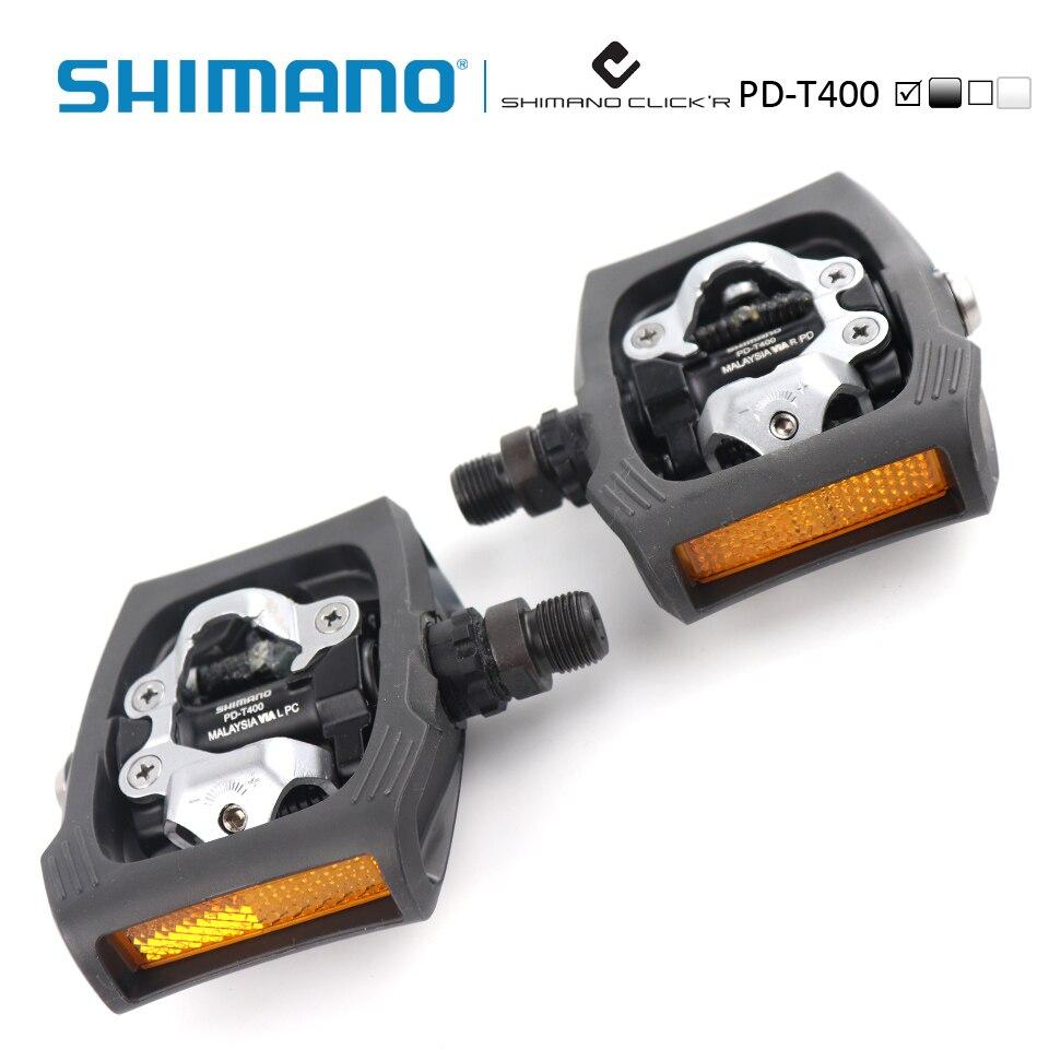 Shimano PD-T400 Click'R SPD Pédale incl plaques SM-SH56 Ville/Touring Bike Vélos autobloquant Pédales - 3