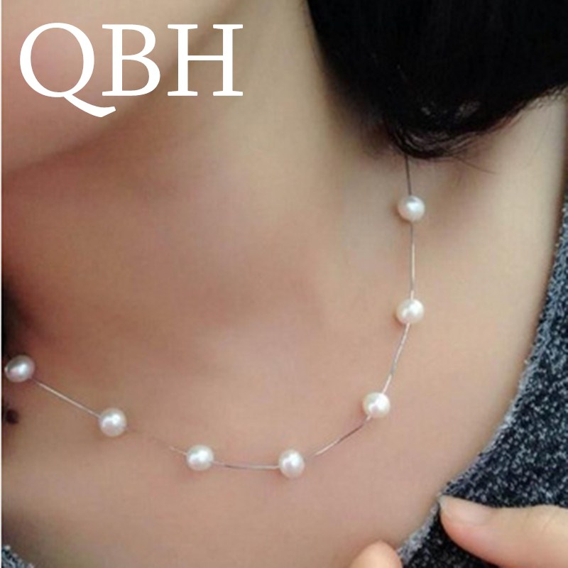 NK981 New Fashion Punk Simulated Pearls Chain Necklace For Women Wedding Jewelry Short Collar Collier Wedding Gifts Collares