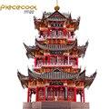 2018 Piececool 3D Metallo modello Di Puzzle JUYUAN TORRE modello di edificio FAI DA TE Taglio Laser Puzzle Puzzle di Modello di Giocattoli regalo Per I Bambini