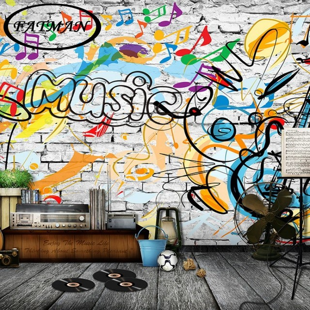 Graffiti Behang Praxis Aliexpress.com : Buy Custom Photo Wallpaper 3d Art