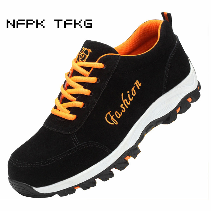 new fashion mens large size steel toe cap work safety