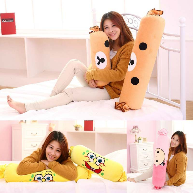 2015 New Arrival Cartoon Long Pillow Candy Cushion Plush Toy  Gift For Girls 2015 new arrival cartoon totoro pillow cushion birthday gift for girls childrend kids baby plush toys doll