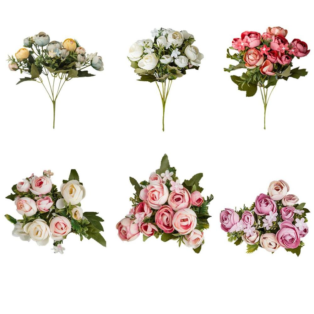 6 colors /10 head Artificial flower Petal Rose Petals Christmas Wedding Party Decoration