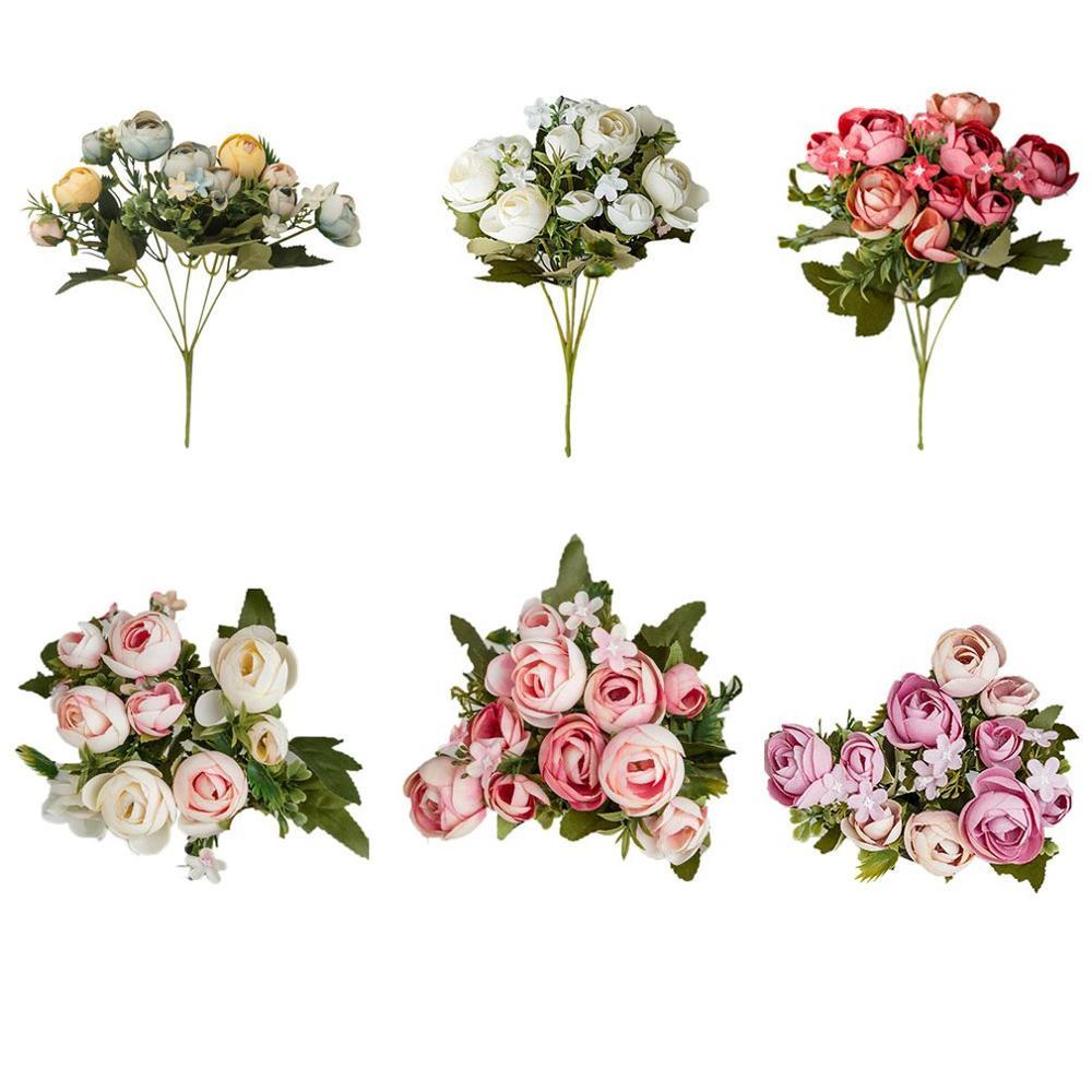 6 colors /10 head Artificial flower Petal Rose Petals Christmas Wedding Party Decoration