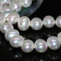 Livraison gratuite vente chaude naturel blanc perle shell 16*19mm environ ronde irrégulière lâche perles femmes la fabrication de bijoux 15 pouces B2275