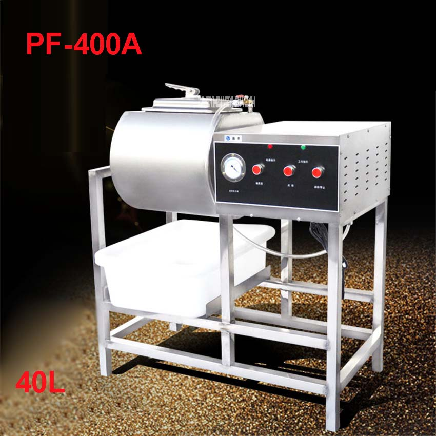 PF-400A Vacuum mariners business 40L bacon pickles car vacuum roll kneading machine ,120W hamburger shop equipment 220V, 50 Hz 35l meat salting marinated machine chinese salter machine hamburger shop fast pickling machine with timer