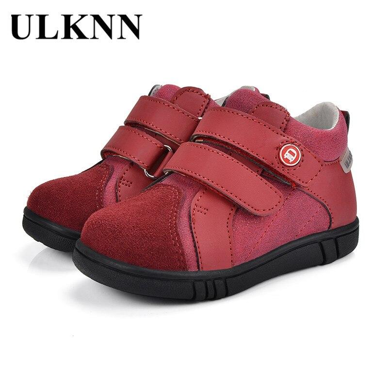 Ulknn Kinder Schuhe Jungen Kids Infant Freizeitschuhe Aus Echtem Leder Atmungs Herbst Tpr Flache Mode Mesh Denim Sneakers AusgewäHltes Material