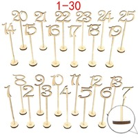 1 30 laser cut table number wood wedding table number stand