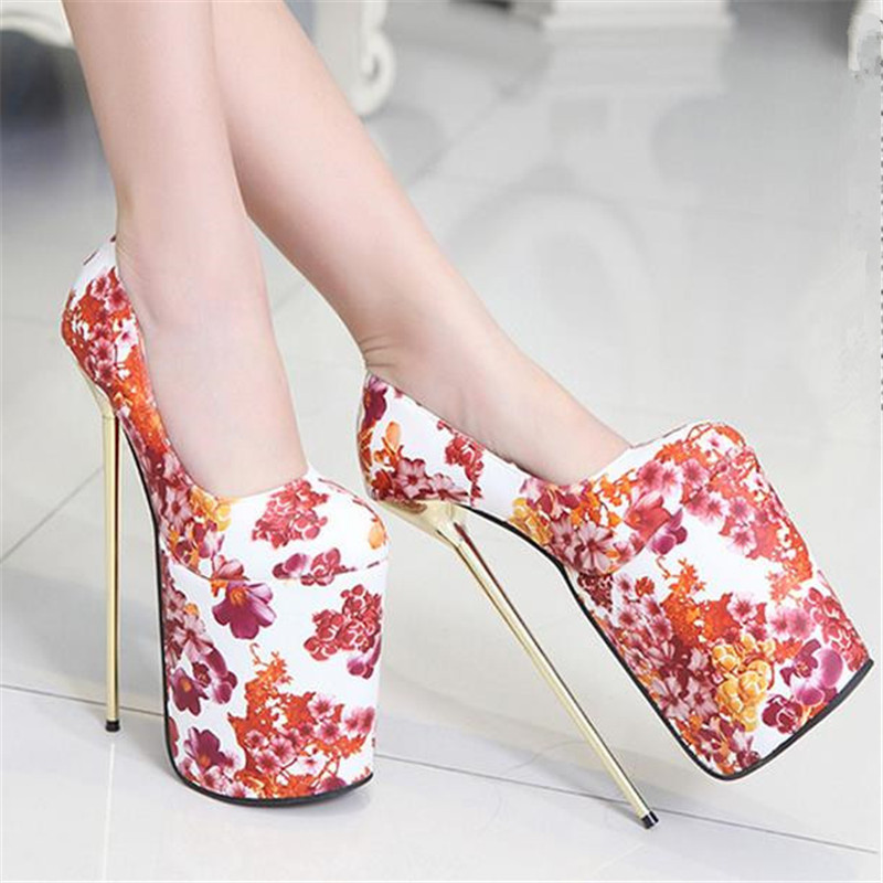 promo code edede 5eb0f Women sexy patent leather floral printing pink black red ...