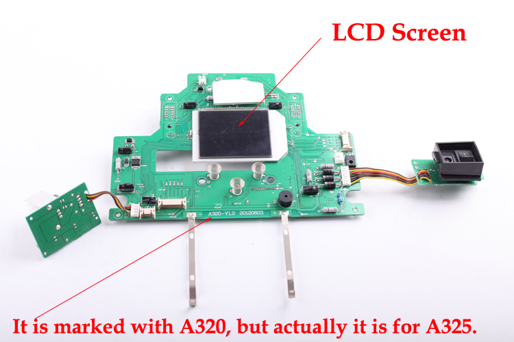 (For LL-A325) Mainboard with LCD Screen for Vacuum Cleaning Robot , 1pc/pack