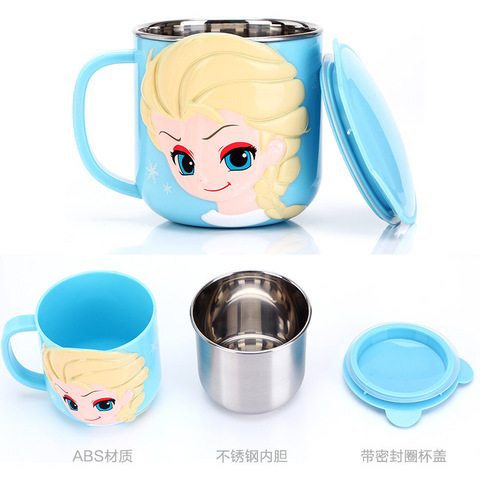 Baby Training Cup Stainless Steel Mugs For Kids Feeding Cup Infant Drinking Cup Water Bottle With Lid Kids Cup Copo De Bebes Lahore