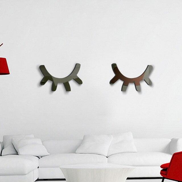 Wand Acryl Spiegel Wimpern, Spiegel Wandaufkleber Dekoration Für Kinder  Kinder Baby Raumwand Deco, Wimpern