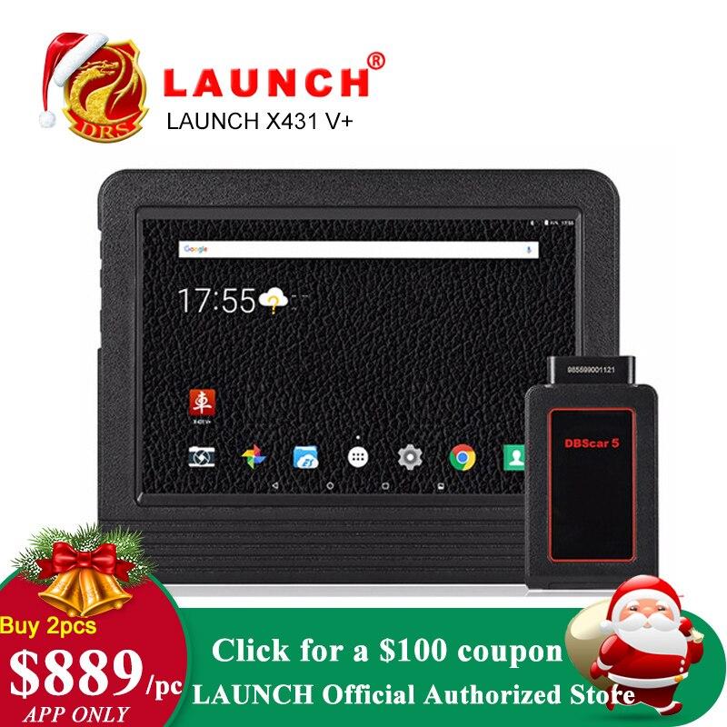 Lancio X431 V plus X431 V + OBD2 Diagnostico Scanner Automotive OBDII Auto Strumento di Diagnostica Auto Bluetooth Wifi Completo del Sistema OBD 2