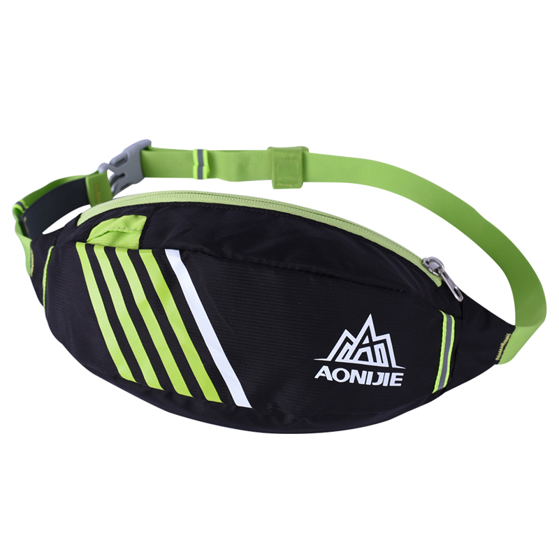 47f270a92c43 US $6.95 30% OFF|AONIJIE Men Women Running Waist Pack Close fitting Outdoor  Sports Racing Hiking Gym Fitness Money Belt Mobile Phone Hip Bag-in ...