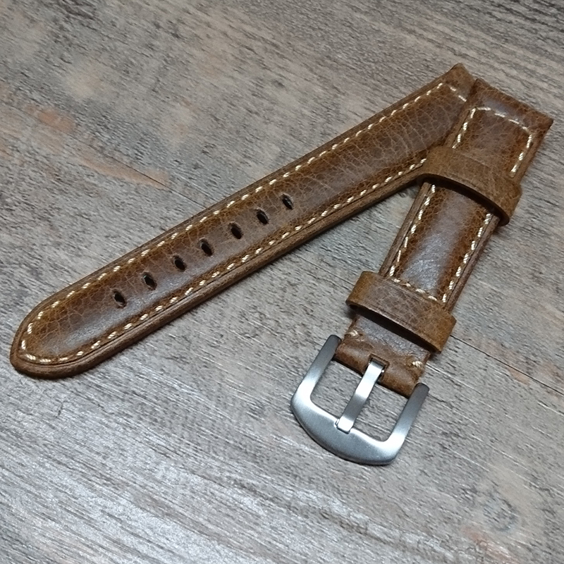 Superior Calfskin leather 20mm 22mm 24mm 26mm Watch Strap Leather Lining Stainless Steel Silver black Buckle watch band for PAM 20mm 22mm 24mm 26mm black stainless steel buckle for watch strap band free shipping