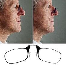 Fácil de Transportar Clipe Nariz Óculos De Leitura Homens Mulheres Mini Rotação Óptica Óculos Para Presbiopia com Ultra Fino + 1.5 + 2.0 + 2.5 Óculos de Leitura