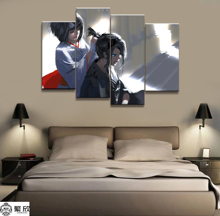 4 Panel WLOP Ghost Blade Anime Noragami Canvas Poster Printed Painting For Living Room Wall Art Decor Picture Artworks