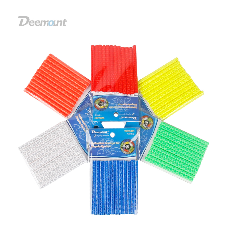 Deemount24PCS Cycle Spoke Light Reflector Auto Light Sensitive Reflection Strips Bars Spokes Casing For MTB City Road Bicycles S