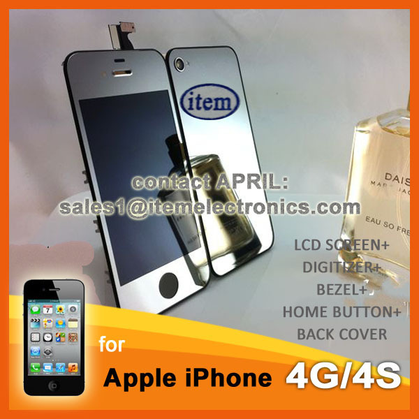 HKP Freeship Mirror Silver Color Conversion Kit for iPhone 4S LCD ...