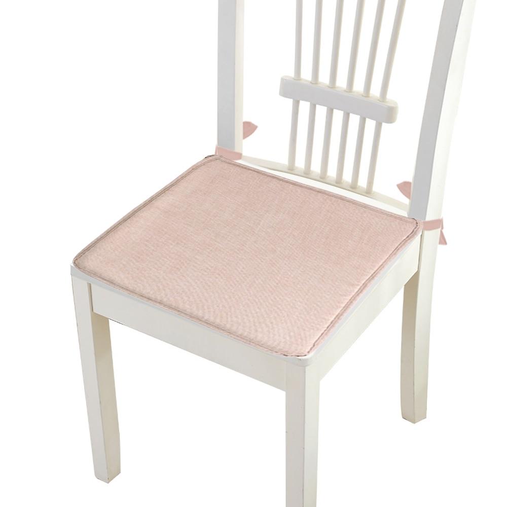 2019 Hot Comfort Antislip Lace Soft Seat Pad Patio Effen Kleur Tuin Vierkante Indoor Dining Tie Op Kantoor Stoel Foam Nieuwe Kussen Gemakkelijk Te Smeren