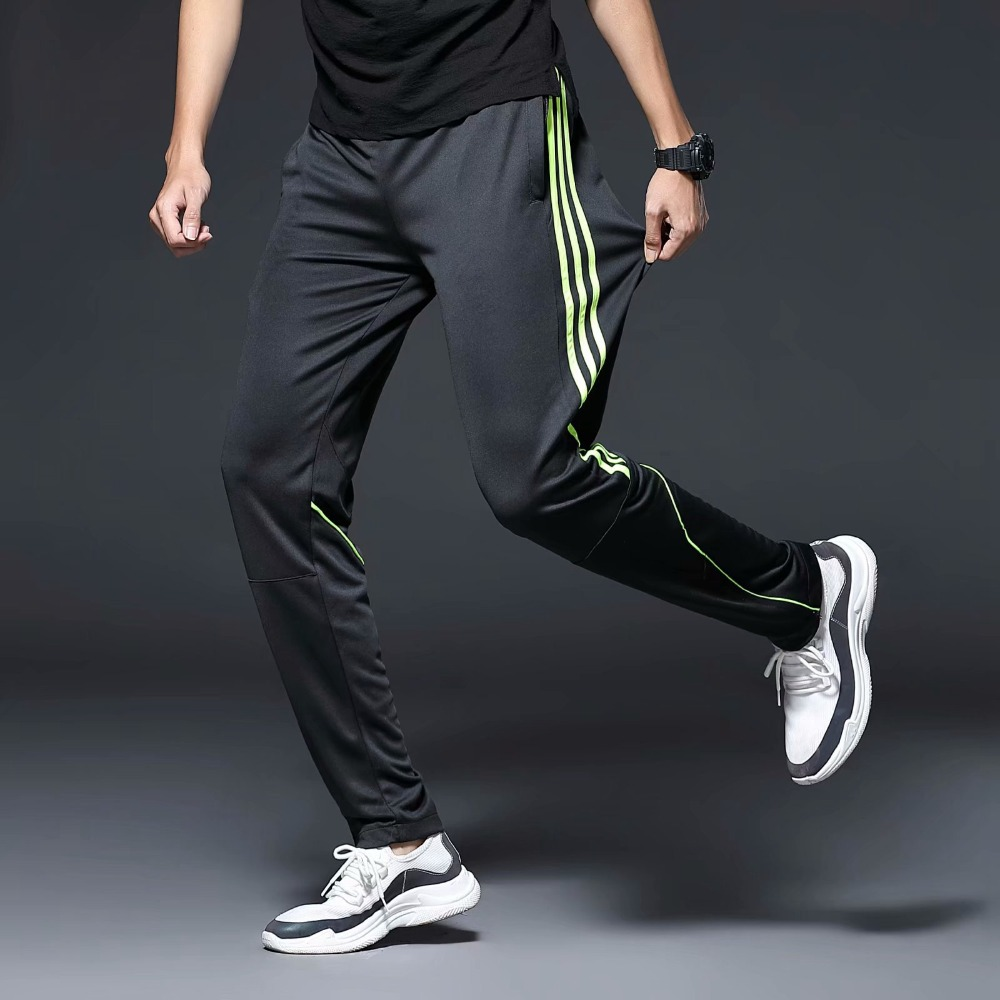 Men Sports Running Pants zipper Pockets Athletic Football Soccer Training sport Pants Elasticity Legging jogging Gym Trousers-in Running Pants from Sports & Entertainment on AliExpress