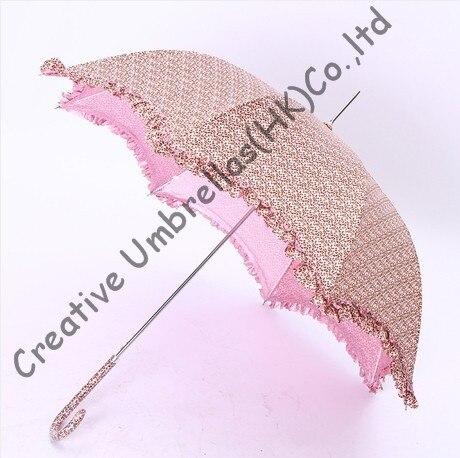 Moon lacing women parasol,summer aluminum alloy umbrellas.10mm aluminum shaft and fiberglass ribs,auto open,leopard printed
